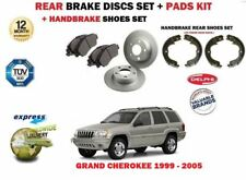 FOR JEEP GRAND CHEROKEE 1999-2004 REAR BRAKE DISCS SET + DISC PADS KIT + SHOES