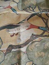 "MULBERRY - Camel Flying Ducks Linen Fabric - 54"" x 70"""