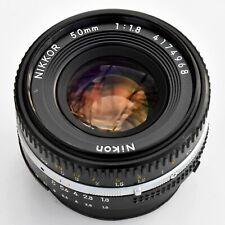 Nikon Nikkor 50mm f/1.8 AIS 'Pancake' super sharp lens. Nr Mint. See test pics.