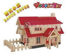 New Wood Assembly DIY toy for 3D wooden model puzzles of Ranch House