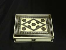 Antique Anglo-Indian Silver Or Pewter Inlaid Box, Circa 2nd Half 19th Century