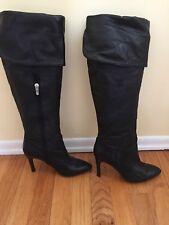 40278c41df2 Enzo Angiolini EAIRINNA over-the-knee stiletto Black Leather Boots Sz 8M
