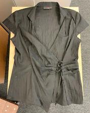Next Black Crinkle Effect Sleeveless Top (Size 10)