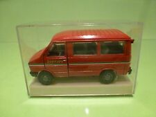 OLD CARS IVECO PANORAMA PERSON CARRIER - FERRARI - RED I:43 - GOOD IN BOX - FIAT