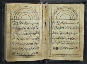 Small Islamic Personal Religious Prayer Manuscript Codex 19th century Turkey
