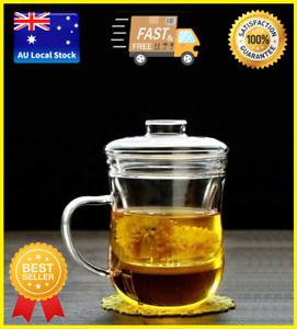 Glass Tea Cup With Infuser Tea Maker Tea Mug Coffee Cup Office Cup 300ml