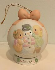"""Precious Moments """"Ic-y Potential In You"""" 2003 Ornament Ball 112875 Mint In Box"""
