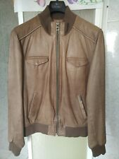 GUESS USA AVIATOR LEATHER BIKER BOMBER JACKET! GIACCA GIUBBOTTO COAT PELLE LANA