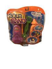 Aqua Sand Magic Sand That Never Gets Wet Purple & Orange with Tools