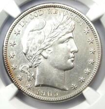 1905-S Barber Half Dollar 50C - NGC Uncirculated Detail (MS UNC) - Rare Date!