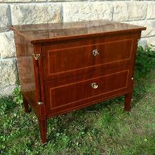 Biedermeier Empire Kommode Mahagonie Vintage Antik Design Schublade Einrichtung