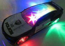 großes Polizeiauto mit Licht, Sound, 3D -Lightshow + Musik, bump n go NEU