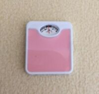 Dolls House Miniature 1/12th Scale Metal Bathroom Scales Blue or Pink