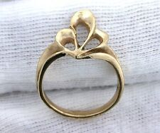 14Kt REAL PURE Yellow Gold Casted Solid Freeform Ladies Fashion Ring Size 6.25