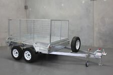 Extremely Durable! 8x5 Tandem H/D Galvanised Braked Cage Trailer