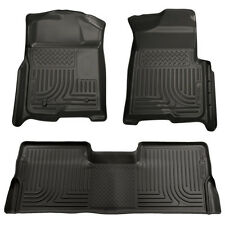 09-14 Ford F150 SuperCrew Cab Husky WeatherBeater Floor Liners Mat Black 98331