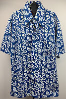 Vtg 1970's Sears Kings Road Shop Mens Shirt Disco Groovy Retro Blue White Size M