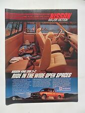 1985 Print Ad Datsun Nissan King Cab Deluxe 4x4 Pickup Truck ~ Wide Open Spaces