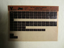 1988 Yamaha Motorcycle XV 1100 U UC Virago Microfiche Parts Catalog XV1100U