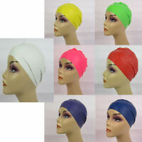 "LOT OF 2. 6. 12 --""AQUA PRO"" SOFT LATEX SWIMCAP, POOL CAP COMFORTABLE PC1235"
