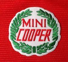 MINI COOPER LAUREL WINGS RACE TEAM MOTOR SPORTS CAR BADGE IRON SEW ON PATCH