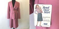 Vintage 1981 Levis Bend Over Pink Mauve Skirt Jacket Suit Set size 14 16 NWT SK4