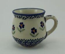 Bunzlauer Keramik Tasse BÖHMISCH MINI - blau/weiß/grün; 0,18 Liter, (K067-ASS)