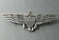 USMC MARINES MARINE CORPS AVIATOR WINGS LAPEL PIN BADGE 2.6 INCHES