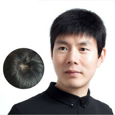 100% Real Natural Hair Short Full Hand-made Wig Genuine Men Hairpiece Toupee Wig