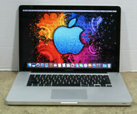 "Apple MacBook Pro A1286 15.4"" 2.2 GHz Core i7-2675QM 4GB RAM 480GB SSD OS 10.12"