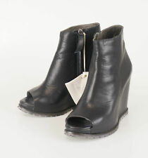 New BRUNELLO CUCINELLI Black Leather Booties Boots Shoes Size 40.5/10.5 $1595