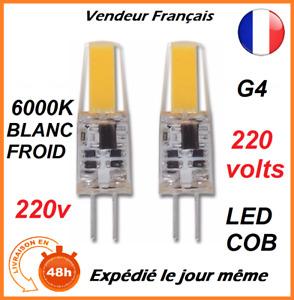 AMPOULE LED G4 6W 220V / 230V 6000K BLANC FROID ECLAIRAGE MAISON LUSTRE DECO