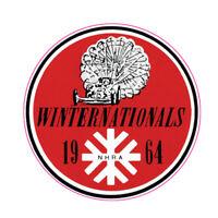 1964 WINTER NATIONALS NHRA HOT RAT ROD DECAL VINTAGE LOOK BUMPER STICKER DRAGS