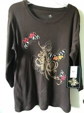 Jane Ashley Casual Lifestyle Ladies Shirt Size Small New with Tags