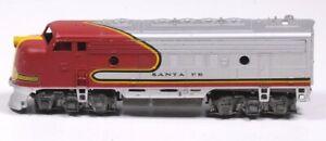 "Vintage ATHEARN SANTA FE ENGINE Red Silver & Yellow 2.25""H x 7""L x 1.5""W"