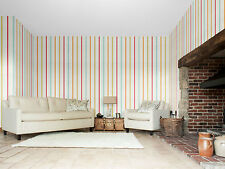 1 ROLL OF SCION HOPPA STRIPE WALLPAPER 111113 COLOUR POPPY/TANGERINE/SULPHUR