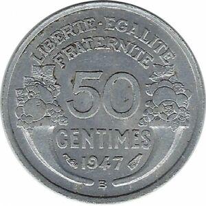 FRANCE 50 CENTIMES MORLON ALU 1947 B TTB+