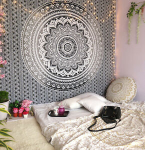 Queen Size Bed Sheet Cotton Tapestry Handmade Bohemian Wall Hanging Living Room