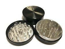 """NEW Sharpstone 2.5"""" Inch Hard Top Herb and Tobacco Grinder, 2 pc, Large, Black"""