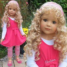 """Masterpiece Dolls Laura by Monika Peter-Leicht, 39"""" Blonde Blue Eyes Full Vinyl"""