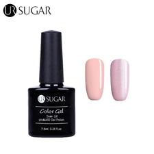 7.5ml 2 Bottles Nail Art UV/LED Gel Polish Glitter Soak Off Gel Varnish Manicure