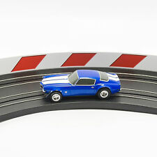 NEW AFX Slot Car Guard Rail Set - Red & White FITS: Aurora, Model Motoring
