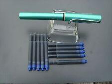 Lamy stylo Al-Star 032-f bluegreeen, STYLO NEUF + 10 cartouches t10 Bleu