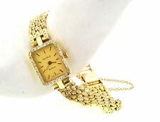 Geneve 14K Yellow Gold Swiss made 2 Carats Diamond Ladies Watch