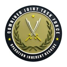 Combined Joint Task Force Operation Inherent Resolve Hook Patch (3D-PVC RUBBER)