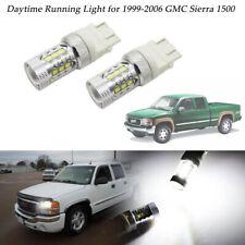 2pcs Bright White LED Daytime Running Lights Bulbs For 1999-2006 GMC Sierra 1500