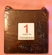 Christmas Photo Picture Frame Bronze Pine Cone 12-Days Advent Calendar Sign New