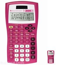 Scientific Calculator 2 Line Display Solar Battery Powered Math Fraction Pink Us