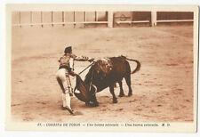 Bullfighting/Corrida de Toros - Una buena estocada - Vintage postcard