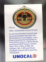 VINTAGE L.A. DODGERS UNOCAL PIN (UNUSED) - 1959 DODGERS VS. WHITE SOX